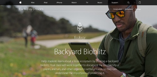 Erintegration Earth Day Technology Projects and Activities: Apple iPad Earth Day Projects