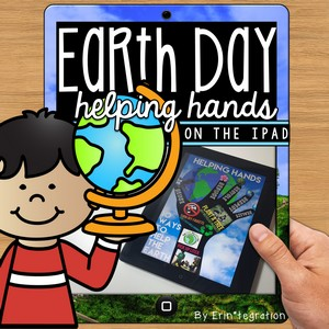 Earth Day Helping Hands on the iPad