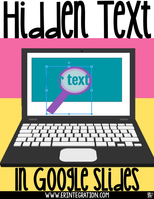hide and reveal hidden text on google slides