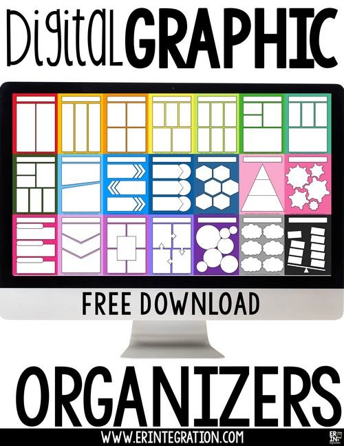 Digital Graphic Organizers and FREE download Erintegration Picture