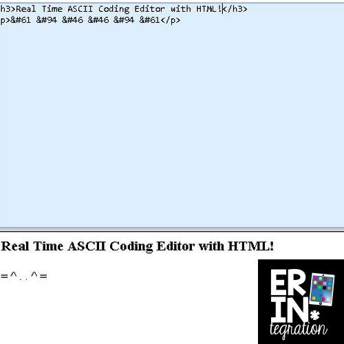 Erintegration Coding with ASCII Text Art HTML Extension Activities 01
