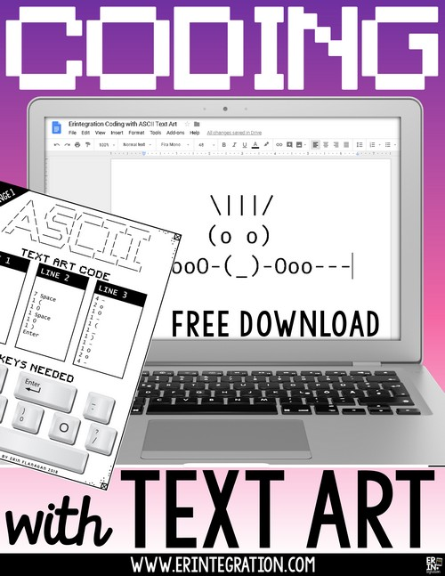 Erintegration Coding with Text Art ASCII in the Classroom