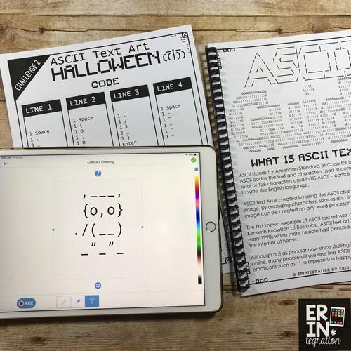 Erintegration Coding with Text Halloween ASCII Text Art