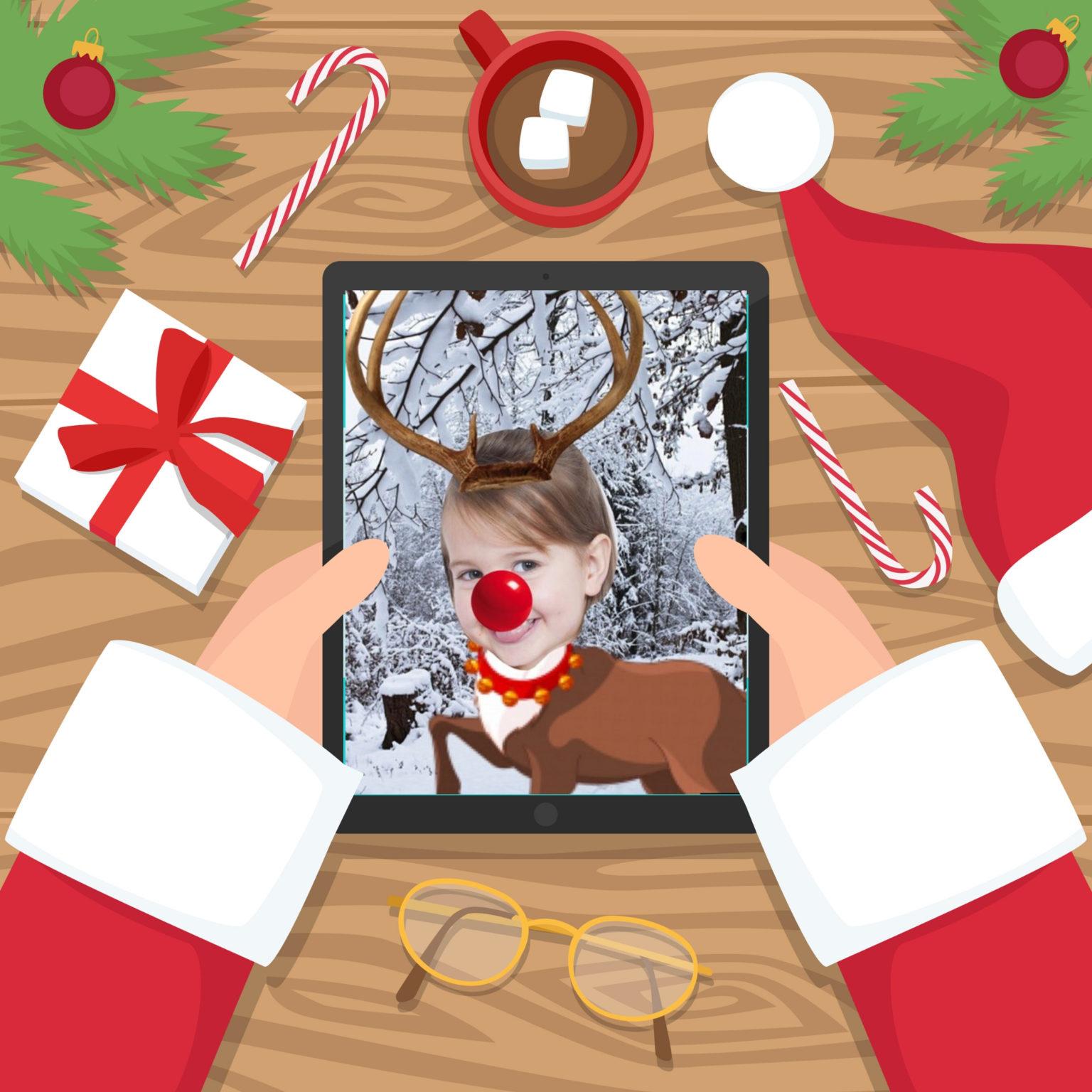 reindeer selfie on Pic Collage