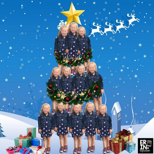 Use the free iPad app Pic Collage to make kid-shaped Christmas trees out of student pictures!  Each student can make one using their own selfie or make a group tree using all of the students in the class.  This project can be printed and turned into an ornament, Christmas card, or parent gift!