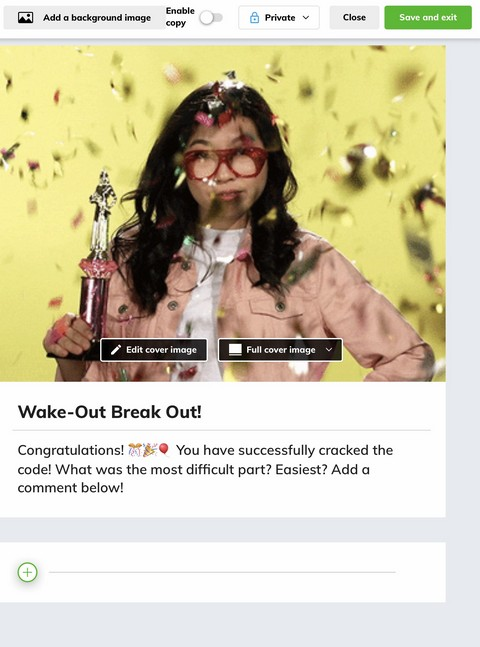 How to Create a Breakout with Wakelet Wake Out Reward Board