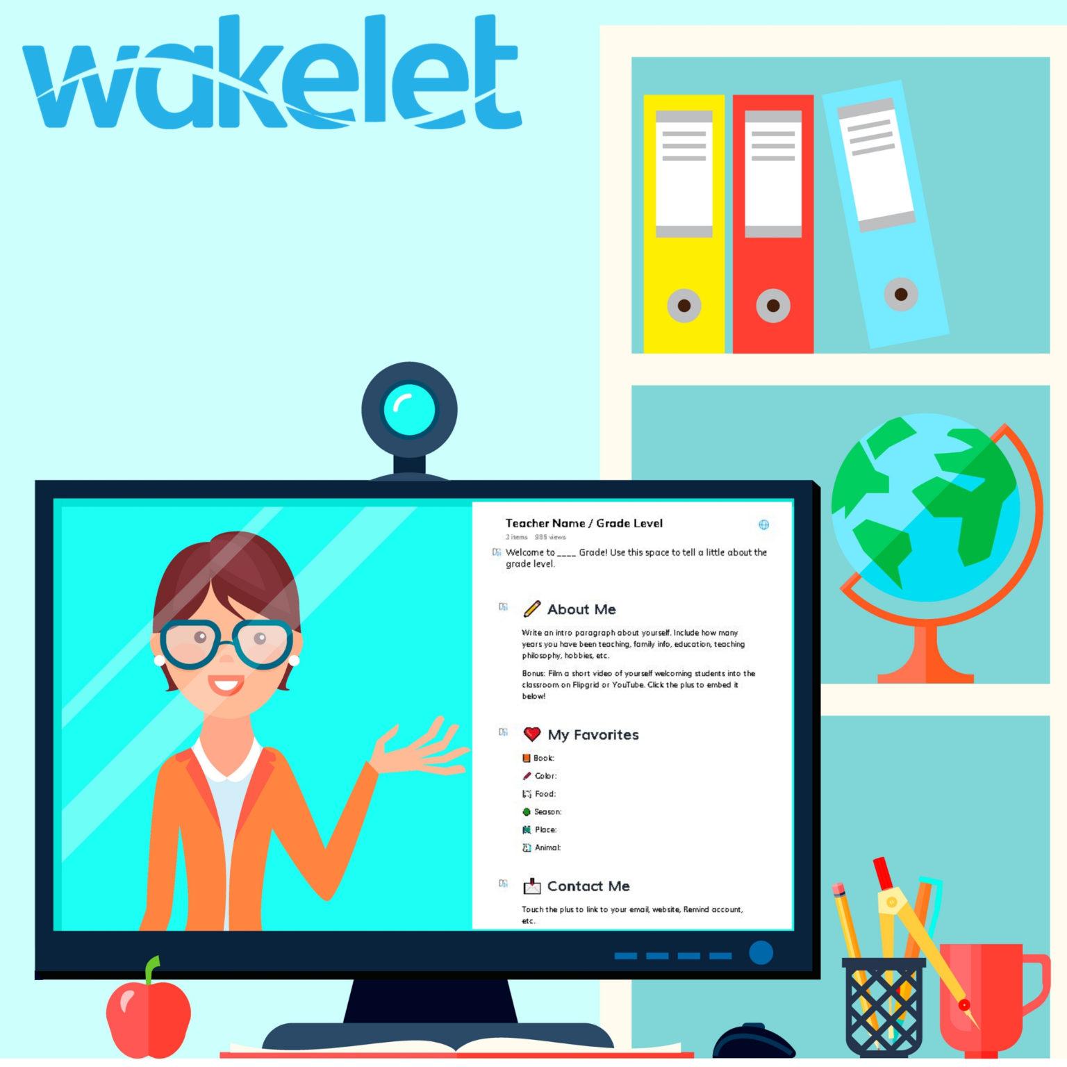 screenshot of Wakelet meet the teacher template