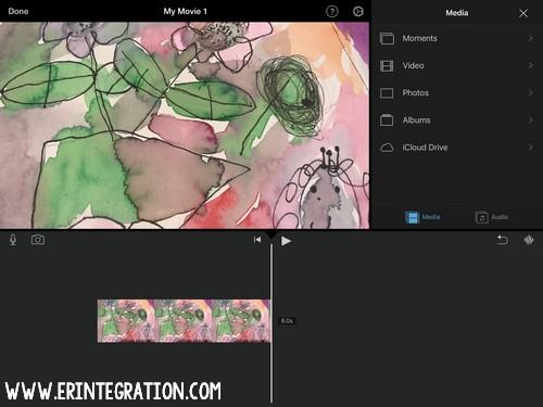 screenshot of iMovie