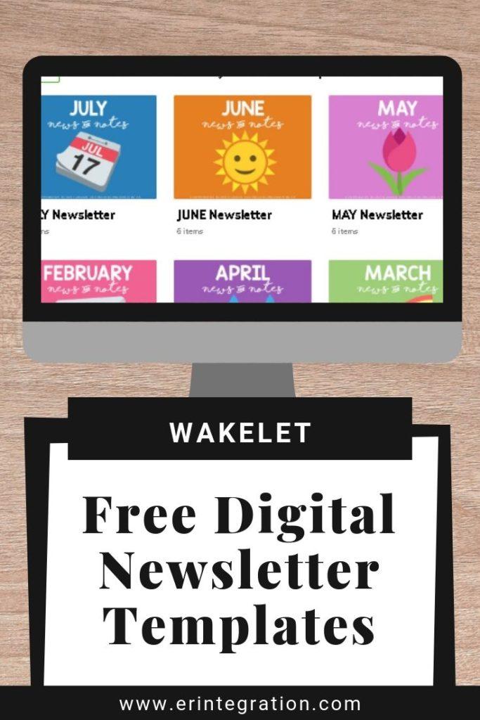 screenshot of digital classroom newsletters on Wakelet
