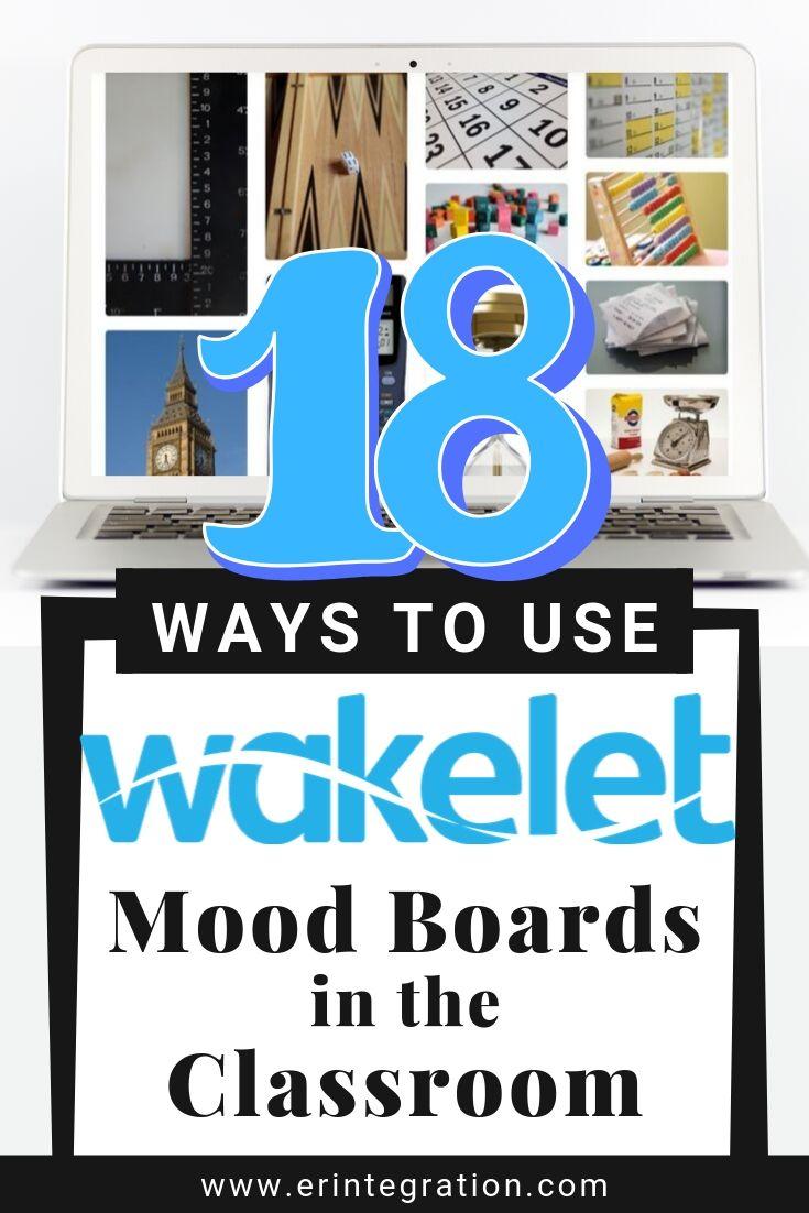 Screenshot of mood board layout on Wakelet