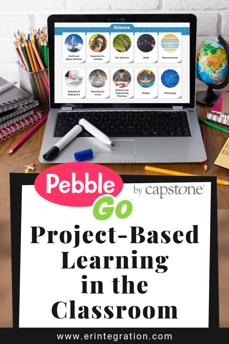 Screenshot of PebbleGo Science Articles for PBL