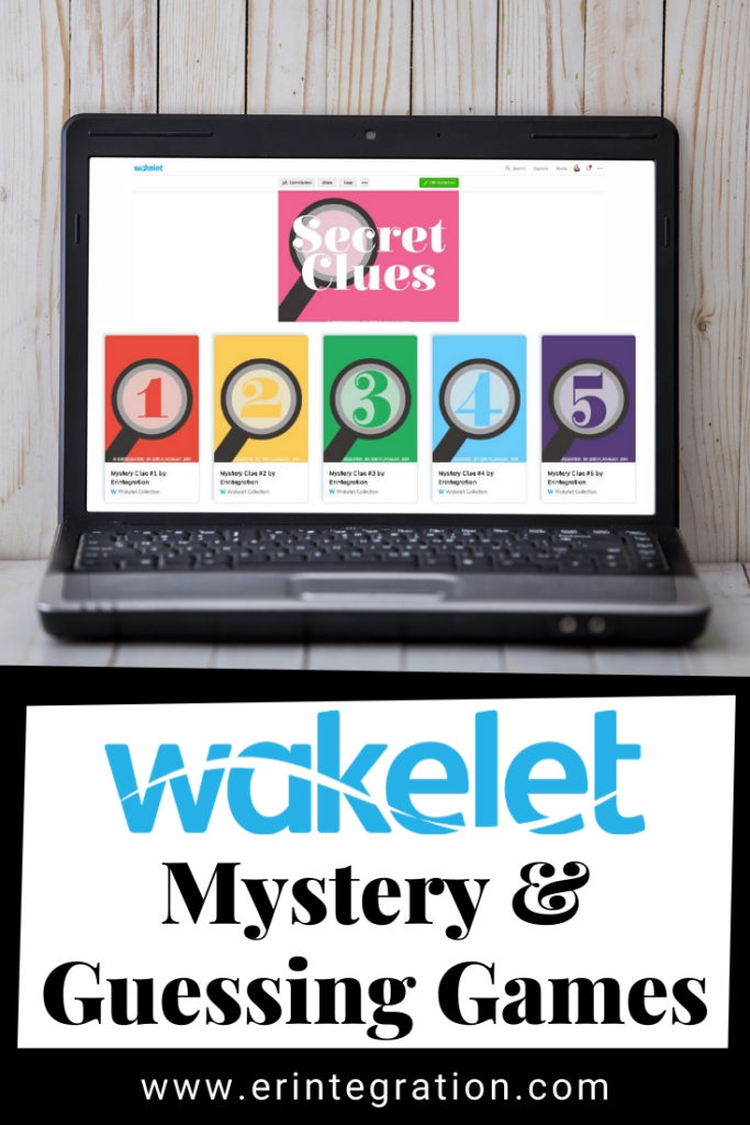screenshot of mystery Wakelet collection with secret clues