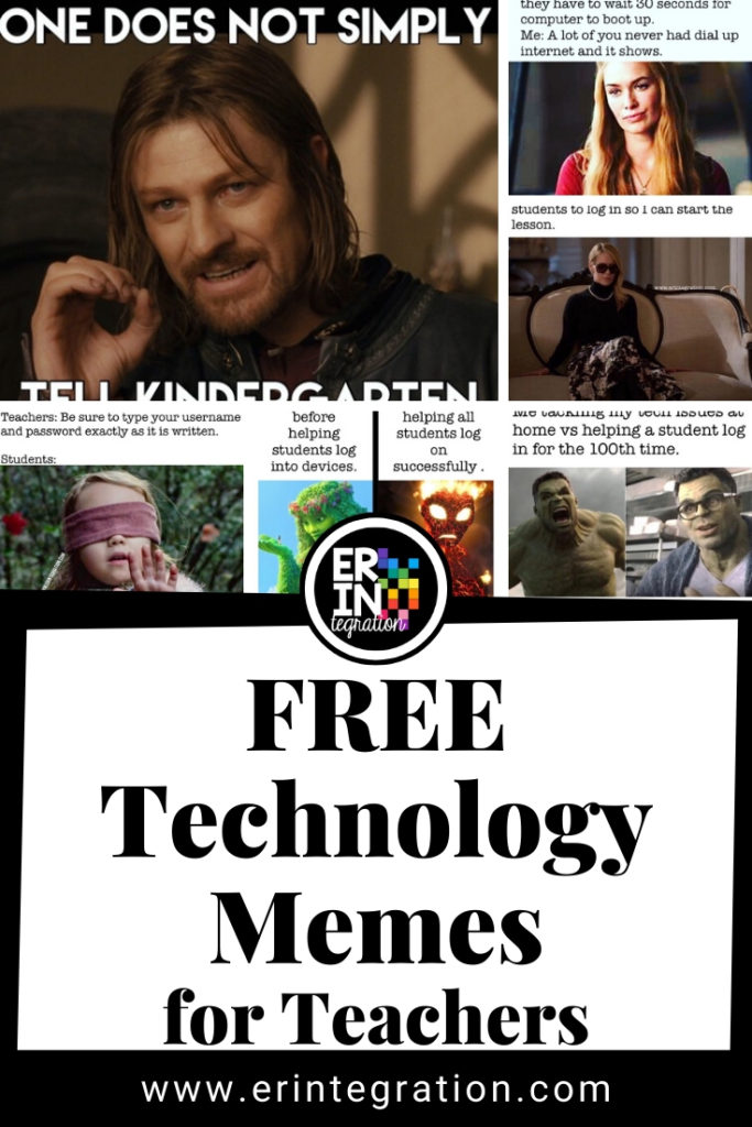 collage of technology memes for teacher by Erintegration