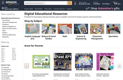 Educational resources on Amazon Ignite screenshot