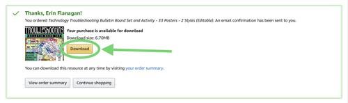 screenshot of download window on Amazon Ignite