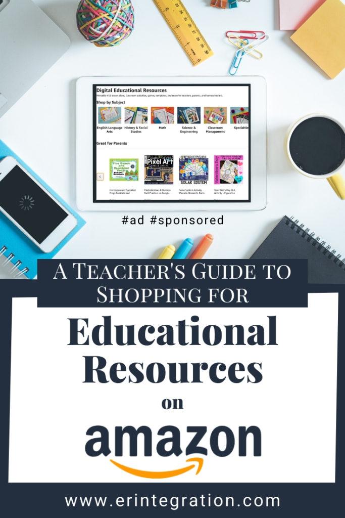 screenshot of Amazon Digital Educational Resources homepage on tablet