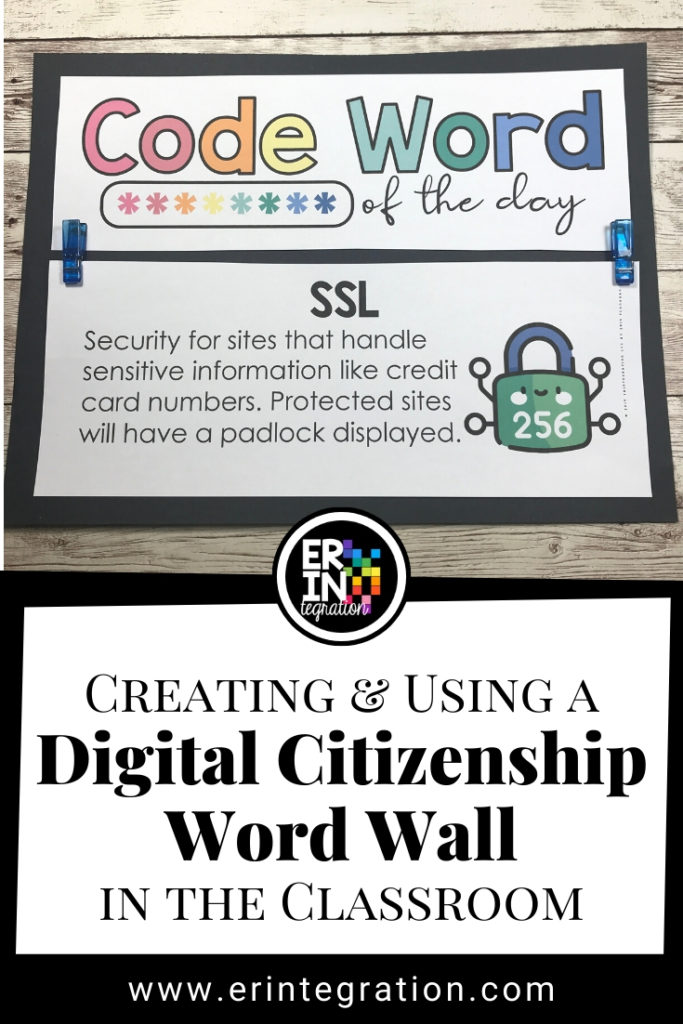 digital citizenship code word of the day by Erintegration