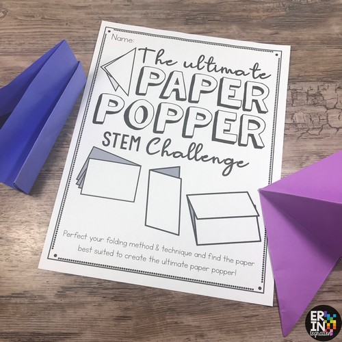 image of printables from the Paper Popper STEM Challenge