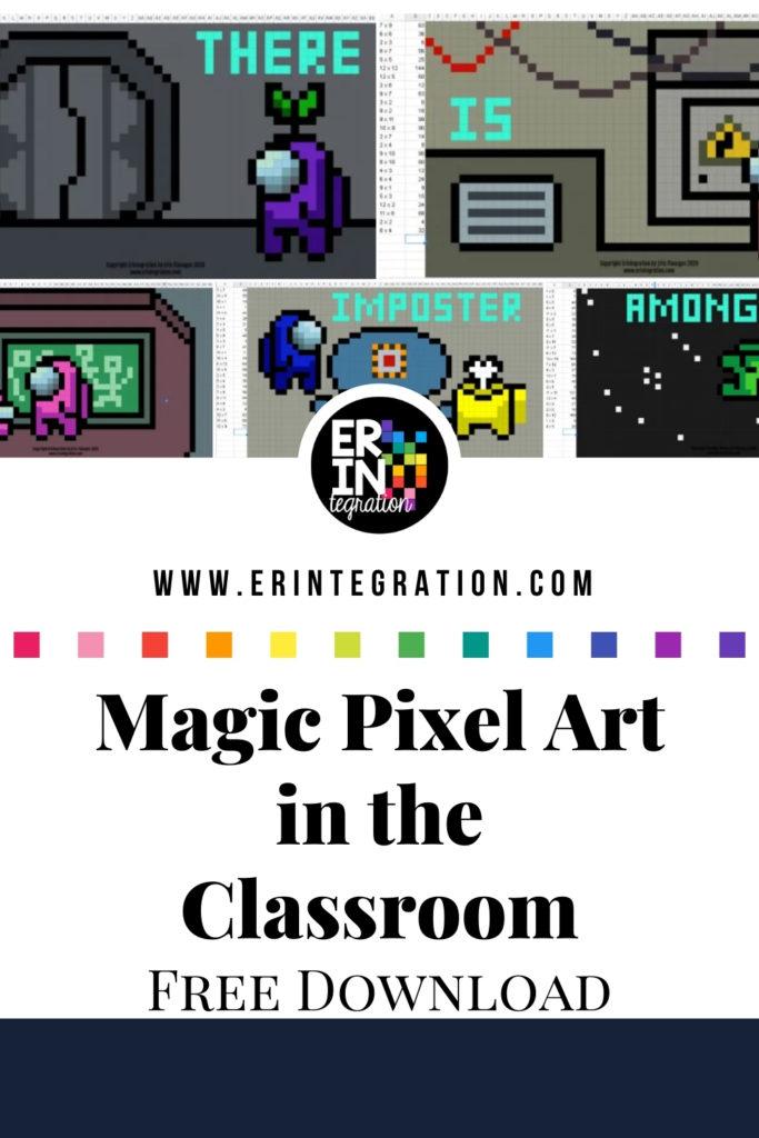 Screenshot of Magic Pixel Art on Google Sheets