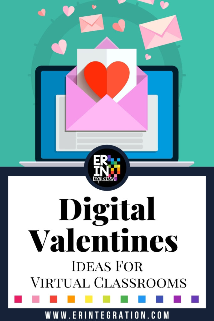 image of a valentine on a laptop screen