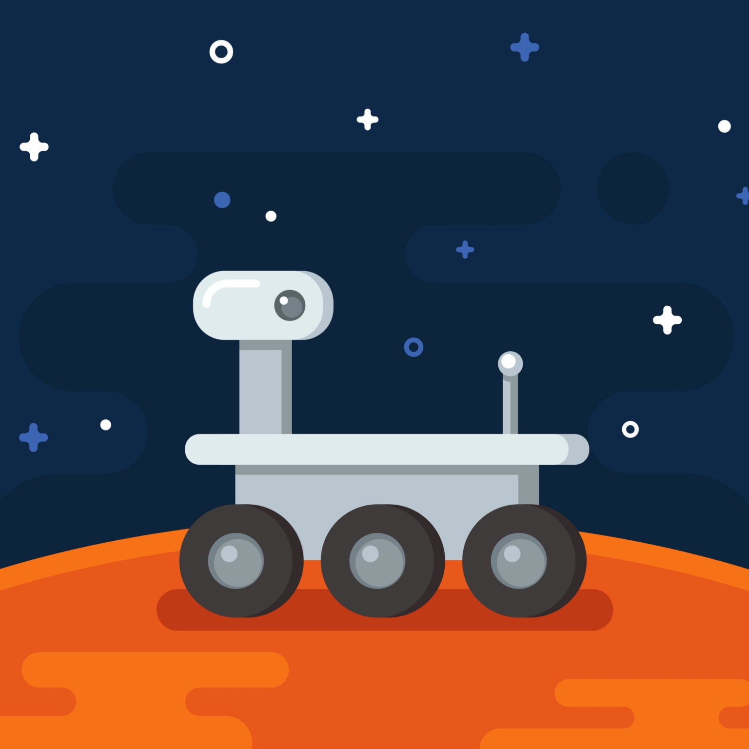 Erintegration Digital Mars Rover Activities and color by number on Google Slides Featured