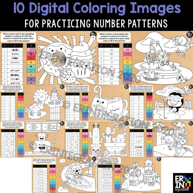 Erintegration Digital Color By Number Number Patterns cover image thumbnail
