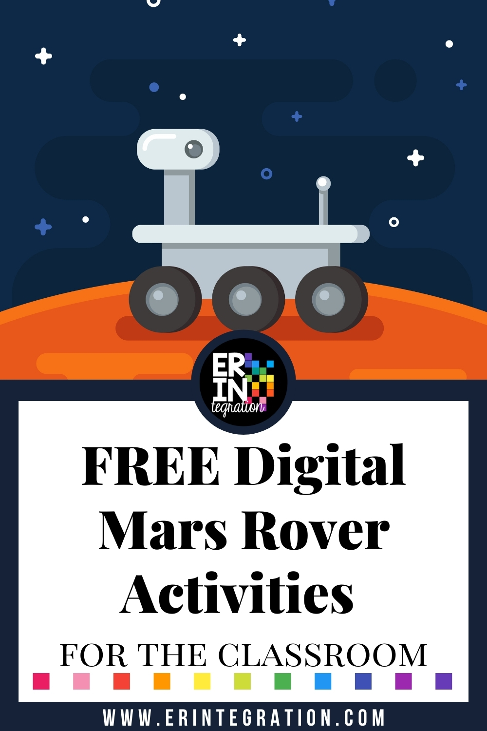 Erintegration Mars Rover Activities Digital Color by Number FREE PIN ## (1)