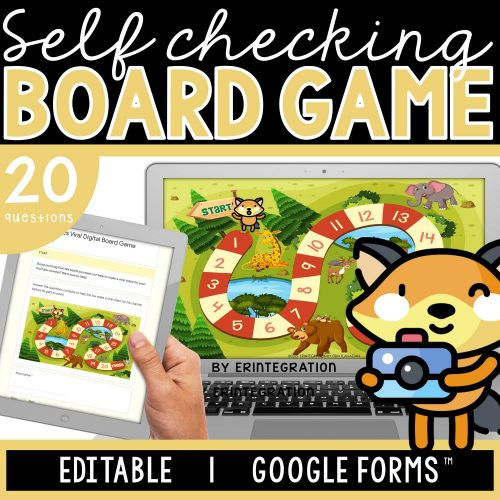 Erintegration Digital Board Game Fractions Cover