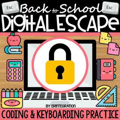 Back to School Digital Escape Room Cover
